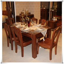wooden furniture dining table designs in wood for sale