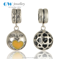Wholesaler Silver Jewellery Eanmel Yellow Chick Charms Pendant