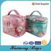 Printing waterproof canvas beautiful travel cosmetic bag for women