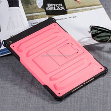 2015 popular lovely pink color TPU PC for apple ipad air 2 case