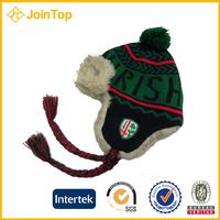 fashion kid winter crochet winter knit rabbit cap