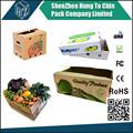 caja de cartón para las frutas y hortalizas