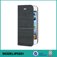 Hot selling stand leather case for iphone 5S case, for apple iphone 5 leather case