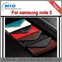 Cell phone case Genuine Flip Leather Envelope Style Wallet Photo Slots Stand Case For Samsung galaxy Note 5