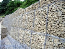 PVC coated/galvanized gabion box/stone cage(manufacturer)