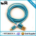 vente en gros accessoires de téléphone mobile micro câble de recharge usb tressé câbles pour samsung téléphone mobile