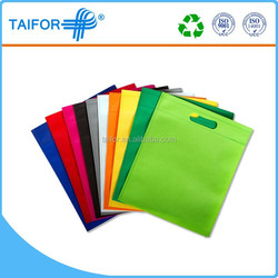folding non-woven tote bag for documents for market