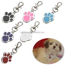 Bella zampa di stampa moda tag pet design personalizzato cane di piccola taglia c-at collare id nome di segni colore casuale