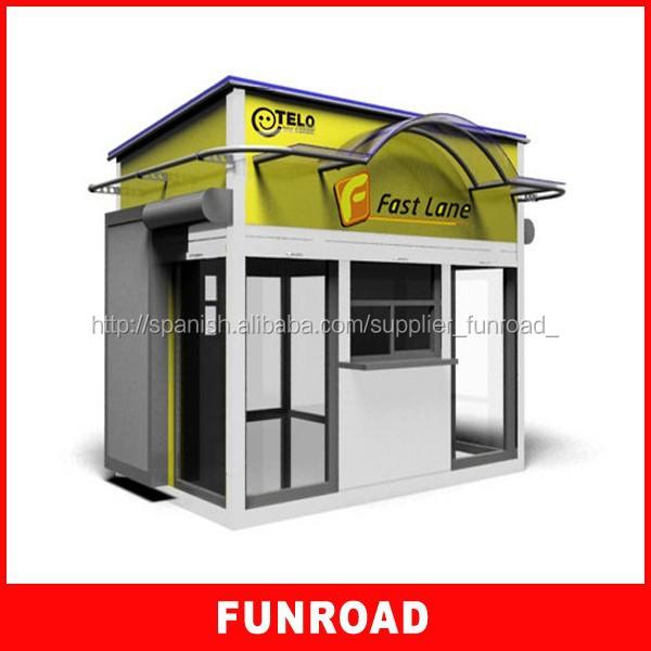 Diseno entero de kiosco mostrador de comida rapida para for Diseno de kioscos en madera