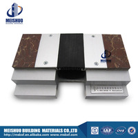 Corrugated rubber filler solid aluminum base timber floor expansion joints