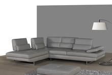 JR9305 fashionable modern Italy leather sectional corner sofa function sofa living room furniture foshan guangzhou factory