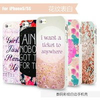 Flower patterns mobile phone cases for iPhone 5s high quality phone protector