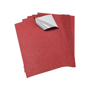 قرمزي اللون بريق ورقة لاصقة النفس لفات وأوراق
