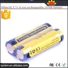 SKY RAY SR14500 high quality 900mAh 3.7v li-ion rechargeable 14500 battery