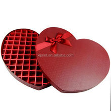 Red Heart Shaped Gift Paper Board Box /Chocolate Packing Box