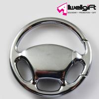 car steering wheel keychain key chain/zinc alloy