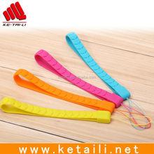 China wholesale mobile phone silicone lanyard, silicone rubber lanyard