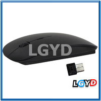 Hot 2.4GHz Wireless Ultra-thin Laser Optical Mouse with USB Mini Receiver, Plug and Play (Black)