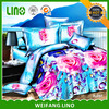 100% polyester 3d bed coloring sheet/wholesale designer bed sheets/cheap fitted sheet