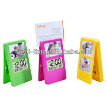 Gift photo frarm alarm clock with temperature S3337A meet CE and Rohs best for Chrismas gift