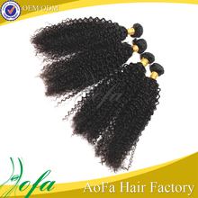 mongolian virgin loose curly braiding hair kinky curly clip in hair extensions