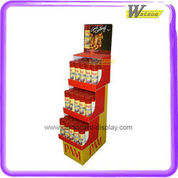 Corrugated Cardboard Display Rack for PAM Water Purification Agent