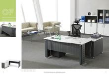 2015 HC-AB601-1 modern office desk with dark grey steel legs