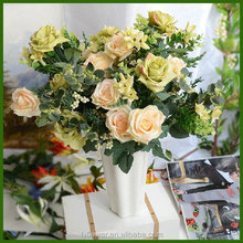 50431101 low price wholesale aritficial rose wedding bouquet flower for bride