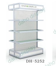 2015 double sided free standing hardware product display racks with light box