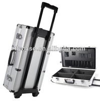 heavy-duty wheels travel train rolling aluminum tool box trolley tool case for travel