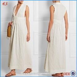 2015 The Sexy Deep V design elegant chiffon evening dress white color long dress