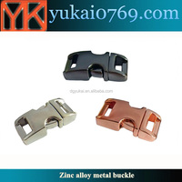 Yukai metal flat strap buckle luggage connect buckle metal side release buckle