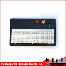 Hot sale! electronic prototyping for design, 83 tie-point Expirmentt Breadboard with Red and blue strips