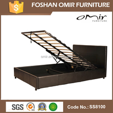 PU PVC Leather Lift Up Storage Bed