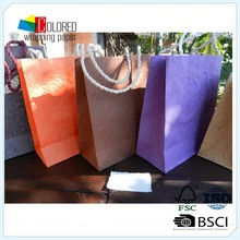 high quality paper shopping bag strong cotton handle paper bag
