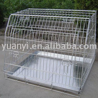 Metal dog cage pet cage/stainless steel dog cage kennels/portable pet crate