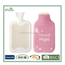Healthcare Rubber Water Bottle/ Soft Cute Hot Water Bottle Knit Cover