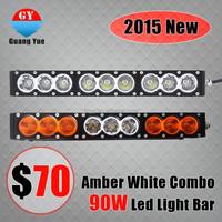 2015 new product 9-32V single row cheap amber 90W led light bar 4x4 for off road jeed atv utv