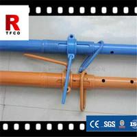 Construction scaffolding metal props