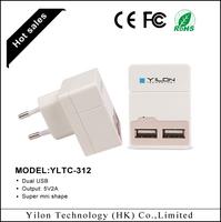 US/EU/AU plug 5v 2a dual usb home charger for blackberry