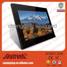 square digital photo frame support photo/music/video, CE&ROHS approved digital photo frame 24 inch