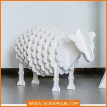 Home decoration animal plywood sheep