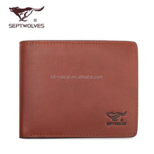 Famous Brand Classic Men Leather Wallet, First Layer Cowhide Leather Wallet