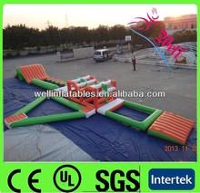 summer funny lake inflatable floating aqua park / aqua playground