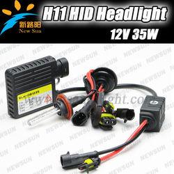 Promotion! super slim ballsat 2pcs H11 H9 H8 xenon HID kit 35w 12v single beam auto headlight xenon bulbs hid