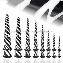 Zebra Ear Stretching Kit Ear Tapers Body Piercing Jewelry