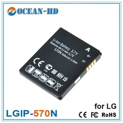 3.7v LGIP-570N for LG china mobile phone battery with price