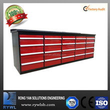 tall Metal Tool Cabinet Tool Box with Wheels 20 drawers