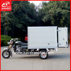 Factory directly manufacture 200cc China cargo motor tricycle enclosed body motorcycle