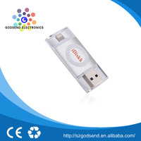 Can be customized high quality promotional mobile phone mini 8gb bulk crystal usb drive flash for iphone